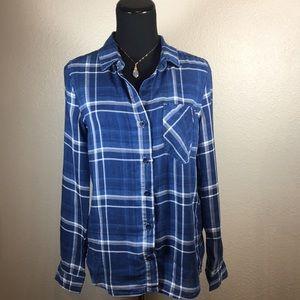 New Anthropologie Cloth & Stone Plaid Shirt